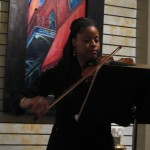 Yokley on violin