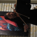 Yokley on violin