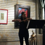 Yokley playing violin