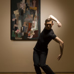Hubbard Street 2 Dancer Brandon Lee Alley with Pablo Picasso's Man with a Pipe, 1915. The Art Institute of Chicago, gift of Mrs. Leigh B. Block in memory of Albert D. Lasker. © 2012 Estate of Pablo Picasso / Artists Rights Society (ARS), New York. Photo by Todd Rosenberg.