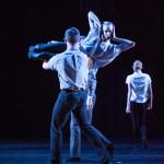 Hubbard Street 2 Dancers Brandon Lee Alley, Lissa Smith and ensemble in Recall byRobyn Mineko Williams. Photo by Media 4 Artists - Theo Kossenas.