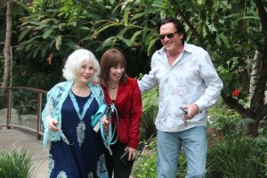 Michael Madsen + elaine+ me walking at Sunset resize